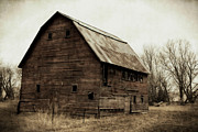 Barn Digital Art Posters - Windows2 Poster by Julie Hamilton