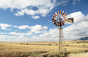 Western Cape Framed Prints - Windpump South Africa Framed Print by Neil Overy