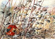 Native American Watercolor Paintings - Winds of Fortune by Patricia Allingham Carlson