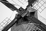 Fox River Mills Photos - Windshaft BW by Jenny Hudson