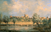 Turret Prints - Windsor Castle - from the River Thames Print by Richard Willis