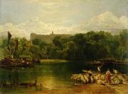 Windsor Framed Prints - Windsor Castle from the Thames Framed Print by Joseph Mallord William Turner