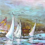 Sails Prints - Windsurf Impression 03 Print by Miki De Goodaboom