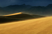 Death Valley Dunes. The Race Track Posters - Windswept Poster by Bob Christopher