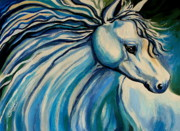 Mustang Paintings - Windswept by Elizabeth Robinette Tyndall