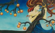 Goddess Mythology Paintings - Windswept Eris by Is Art E Studio