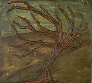Distressed Mixed Media - Windswept Oak I by Kimberly Merck Moore