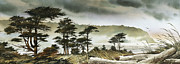 Landscape Framed Print Image Painting Originals - Windswept Shore by James Williamson