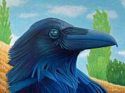 Birds Of Prey Paintings - Windswept Visionary by Brian  Commerford