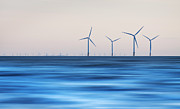 Liverpool Acrylic Prints - Windturbines, Burbo Bank, Crosby Acrylic Print by Ian Moran