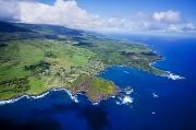 Ron Ron Framed Prints - Windward Maui Aerial Framed Print by Ron Dahlquist - Printscapes