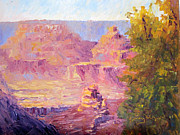National Parks Paintings - Windy Day in the Canyon by Terry  Chacon