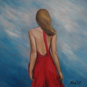 Bare Back Paintings - Windy Day by Jindra Noewi