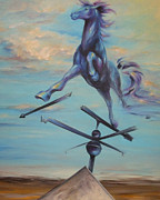 Weathervane Painting Prints - Windy Print by Dina Dargo