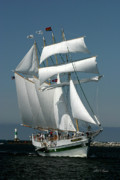 Tall Ship Prints - Windy II Print by Frederic A Reinecke