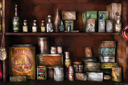 Grocery Store Prints - Wine - Rum and Tobacco Print by Mike Savad