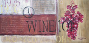 Wine Making Painting Prints - Wine 101 Print by Arleana Holtzmann
