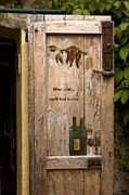Aberto Photo Posters - Wine a Bit Door Poster by Sally Weigand
