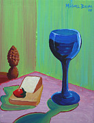 Wayne Thiebaud Framed Prints - Wine and Cheese Framed Print by Michael Baum