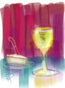 Party Digital Art - Wine and Cheese by Russell Pierce