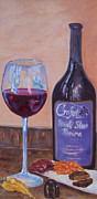 Dessert Wine Paintings - Wine and Chocolate by Alicia Drakiotes