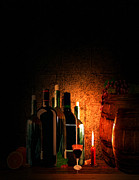 Wine Bottle Digital Art - Wine and Leisure by Lourry Legarde