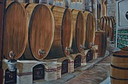 Vino Framed Prints - Wine barrels Framed Print by Dany Lison