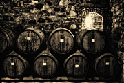 Winery Photography Posters - Wine Barrels Poster by Laszlo Rekasi