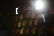 Barrels Framed Prints - Wine barrels Framed Print by Viktor Savchenko