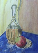 Wine Bottle Paintings - Wine Bottle 2 by Clarence Butch Martin