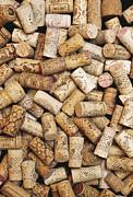 Stoppers Posters - Wine Bottle Corks Poster by Alan Sirulnikoff