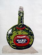 Wine Bottle Print by Ron Bissett