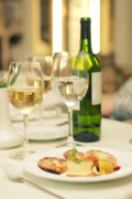 Tasting Photo Originals - Wine bottle with glasses by Evgeny Ivanov