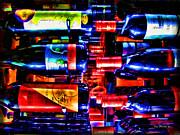 Wine Bottles Print by Joan  Minchak