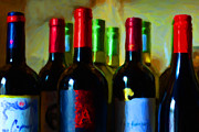 Wines Digital Art Acrylic Prints - Wine Bottles - Study 8 Acrylic Print by Wingsdomain Art and Photography