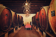 Table Cloth Photos - Wine Cellar by Benjamin Matthijs