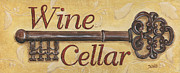 Gold Key Prints - Wine Cellar Print by Debbie DeWitt