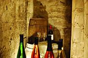 Wine Bottle Prints - Wine Cellar Print by Peter  McIntosh