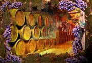 Vintner Pyrography Prints - Wine Cellar Print by Richard Nickson