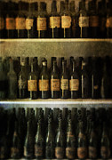 Stored Metal Prints - Wine Collection Metal Print by Jill Battaglia