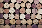 Round Photo Prints - Wine corks  Print by Jane Rix