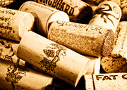 Wine Cork Collection Prints - Wine Corks Print by Jarrod Erbe