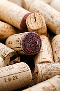 Bottle Cap Collection Posters - Wine corks Poster by Kati Molin