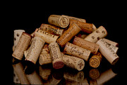 Canvas Wine Prints Pyrography Prints - Wine Corks Print by Sinners Andsaintsstudio