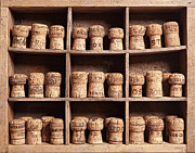 Bottle Cap Collection Posters - wine corks on shelves - Matusciac Poster by Matusciac Alexandru
