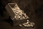 Box Wine Posters - Wine Corks Still Life I Poster by Tom Mc Nemar