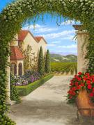 Napa Valley Vineyard Paintings - Wine Country Chateau by Patrick ORourke