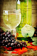 Grapevine Red Leaf Photo Posters - WIne Poster by Darren Fisher