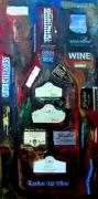 Winery Painting Posters - Wine Enthusiast Poster by Patti Schermerhorn