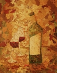 Red Wine Bottle Posters - Wine For Two Poster by Linda Klippenstein